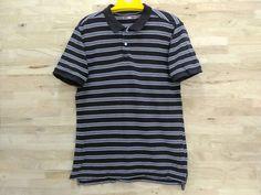 Vintage CPS Polo Shirt Designer Black Stripes Striped Shirt by ArenaVintage