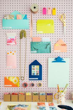 Rainbow Envelope Organization System with Moo
