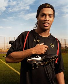 Ronaldinho. Like a black Cleetus the slack jawed yokel