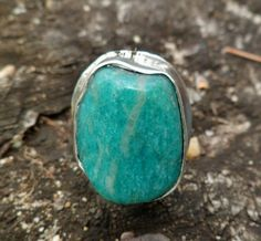 Amazonite Ring. Adjustable Ring. Sterling Silver And by Unics, $64.00