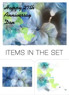"""""""Happy Anniversay Hubby"""" by barebear1965 ❤ liked on Polyvore featuring art"""