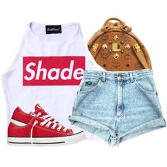 unknown by nasiaswaggedout on Polyvore featuring polyvore fashion style Converse MCM