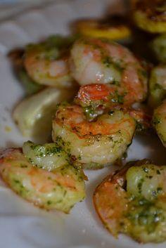 Pesto Shrimp on the Grill