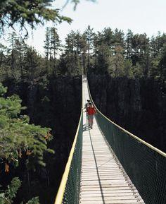 Eagle Canyon bridge, Thunder Bay, Ontario, Canada photo