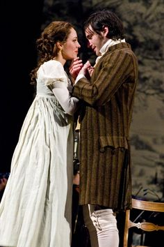 """Laura Osnes as Elizabeth Bennet and Colin Donnell as Mr. Darcy in """"Pride and Prejudice, A Musical"""""""
