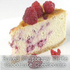Cheesecake. Just thinking about it makes me drool. This luscious baked cheesecake makes a special dessert for any occasion. In fact, it's so good, you probably won't want to wait until dessert. Raspberries with white