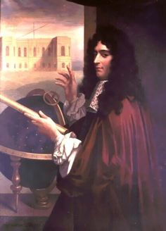 """Jean-Dominique Cassini aka Giovanni Domenico Cassini (1625-1712). An Italian astronomer who became director of the Paris Observatory and a naturalized Frenchman. For his early observations of Saturn's rings and moons NASA named its Cassini mission to Saturn in his honor. Cassini is still taking fabulous pictures of the Saturnian system. (Portrait: Leopold Durangel) ©Mona Evans, """"10 Amazing Facts about Saturn's Moons"""" http://www.bellaonline.com/articles/art28136.asp"""