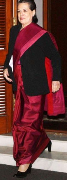 Sonia gandhi footwear shoes walking peeptoe