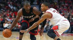 Dwyane Wade and Derrick Rose battle it out in the 2012 NBA Playoffs!