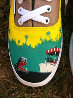 Disney Inspired Custom Painted Vans Shoes Jungle Cruise