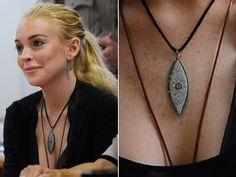 Lindsay Lohan's hot evil eye necklace!