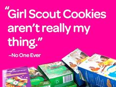 Who doesn't eat Thin Mints by the row? Girl Scout Cookie Meme, Girl Scout Cookie Sales, Brownie Girl Scouts, Girl Scout Cookies, Daisy Girl Scouts, Girl Scout Troop, Crafts For Seniors, Fun Crafts For Kids, Kid Crafts