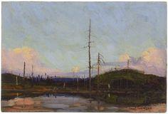 Tom Thomson Catalogue Raisonné | Evening, Fall 1913 (1913.23) | Catalogue entry
