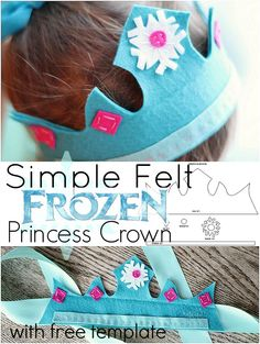 Do your children love Frozen? Make them this simple felt Frozen princess crown - perfect for dress up or anytime! Your little princess is sure to love it. Frozen Birthday Party, Frozen Party, Frozen Felt, Birthday Parties, Frozen Princess, Little Princess, Princess Crowns, Princess Party, Disney Princess