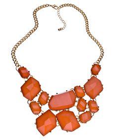 Blu Bijoux Orange Bib Necklace