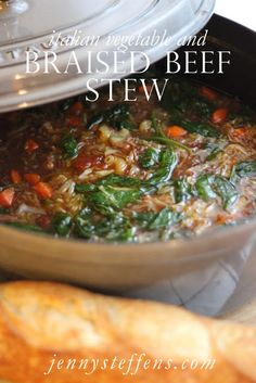 Braised Beef & Italian Vegetable Stew... perfect fall dinner!    http://jennysteffens.blogspot.com/2012/10/braised-beef-italian-vegetable-stew.html