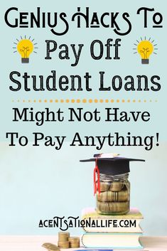 The smartest ways to pay off student loans that can save you thosands of dollars! Check out these creative ways that can quickly pay off your school loans! Student Loan Repayment, Paying Off Student Loans, Student Loan Debt, School Loans, Student Loan Forgiveness, Scholarships For College, College Loans, College Tips, Payday Loans