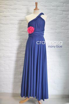 Demoiselle d'honneur robe Infinity robe bleu marine par craftingsg