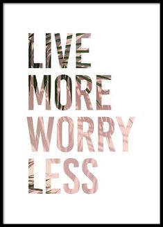 Live More Poster in the group Prints / Typography & quotes at Desenio AB Art Deco Typography, Fashion Typography, Typography Poster Design, Typographic Poster, Typography Quotes, Typography Letters, Lettering, Number Typography, Food Typography