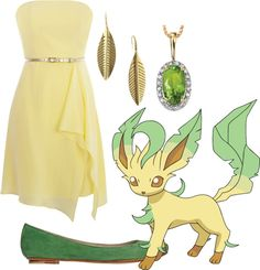 """Leafeon"" by golden-hart on Polyvore"