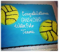 Created this cake for our waterpolo banquet.  It was LOVED by all!