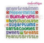 Embroidery Designs (All) - Gingerbread Man Words Adorable Holiday Design on sale now at Embroitique!