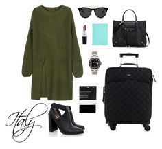 """""""Traveling Italy"""" by justine-sesbreno on Polyvore featuring Kate Spade, John Lewis, WithChic, Senso, Balenciaga, Rolex and Smoke x Mirrors"""