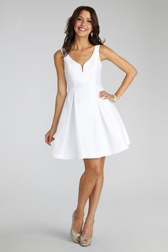 adorable little white dress by Donna Morgan