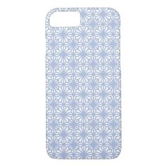 Trendy Blue White Lace Case-Mate iPhone 8/7 Case - graduation gifts giftideas idea party celebration