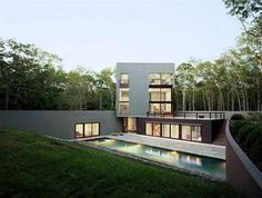 Modern and Wonderful Home Design Which Lies in the Middle of Forest