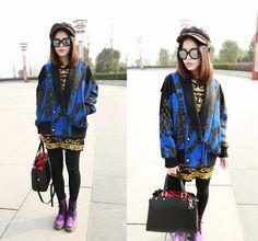 Blue jacket (by Rinka Li) http://lookbook.nu/look/4487899-blue-jacket