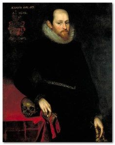 A portrait belonging to Edward Devere 17th Earl of Oxford