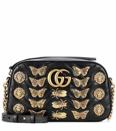 GG Marmont embellished leather crossbody bag | Gucci
