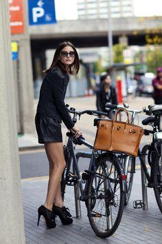 Even on a bike!