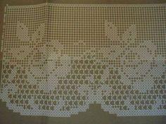 Filet Crochet, Crochet Borders, Crochet Art, Crochet Motif, Crochet Designs, Crochet Doilies, Crochet Stitches, Crochet Patterns, Crochet Curtains