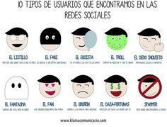 10 tipos de #usuario de #redessociales