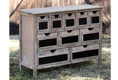 Wooden Cabinet with Ten Drawers    $352.00@http://www.antiquefarmhouse.com/current-sale-events/chalk3.html