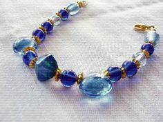 $12 #bracelet #bead #gift #handmade #jewellery #blue