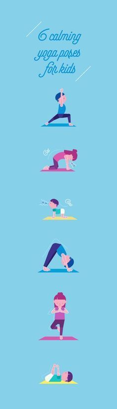 Yoga for kids! Your kids may not be able to identify the complex emotion of stress, but it definitely impacts them as much as adults. Here are 6 calming yoga poses for kids to help them slow down and keep them in the present.