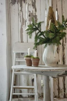 Scandinavian Christmas - the most beautiful Christmas is naturally green (and white) - Comfortable home