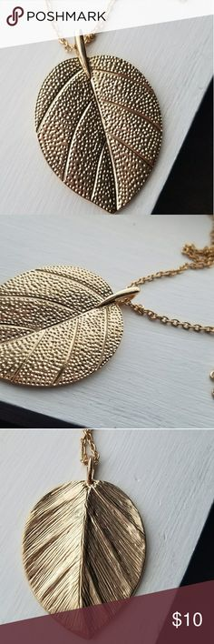 Gold leaf necklace Brand new never worn. Alloy Jewelry Necklaces