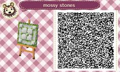 """moon-bees: """"Here's a simple mossy path block I came up with in New Leaf! I wanted a path that only used 1 tile without having to fuss with edge or corner pieces, and one that would look good broken up..."""
