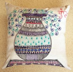 Cushion Covers in Madhubani Painting Technique on Behance