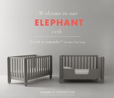 Introducing the Elephant, Oeuf's new crib