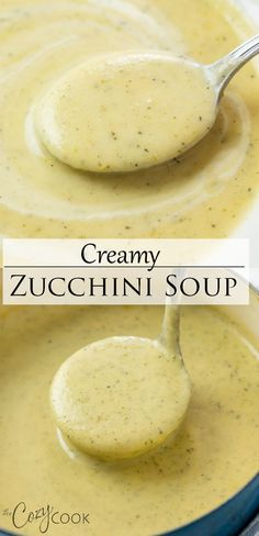 Blended Soup Recipes, Cream Soup Recipes, Vegetable Soup Recipes, Healthy Soup Recipes, Cooking Recipes, Zuchinni Soup, Creamy Zucchini Soup, Bisque Soup, Garlic Soup