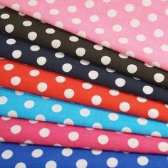 10mm Polka Dots Spots Polycotton Fabric