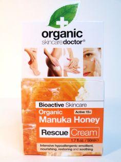 Organic Manuka Honey Rescue Cream Fluid Ounces Cream) by Organic Doctor at the Vitamin Shoppe Organic Manuka Honey, First Aid Tips, Body Gel, Skin Care Cream, Tea Light Candles, Organic Skin Care, Health And Beauty, Moisturizer, Skin Products