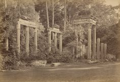 George Washington Wilson (1823-93) - Ruins at Virginia Water, Windsor, c.1876