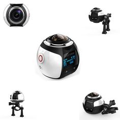 360° Mini WiFi Panoramic Video Camera 2448P 30fps 16MP Photo 3D Sports DV VR Video And Image ABS