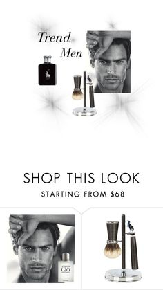 """Trend men"" by camilla-sjoeberg on Polyvore featuring Giorgio Armani, Cedes, Ralph Lauren, men's fashion and menswear"